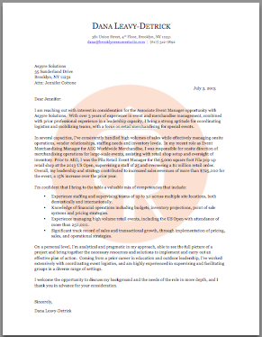 Brooklyn Resume Studio - Career Consulting, Resume Writing & Job Search Strategy Tools - Cover Letter Samples