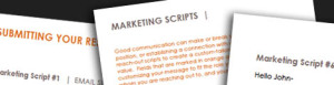 Email Marketing Scripts - Brooklyn Resume Studio - Career Coaching, Resume Writing, LinkedIn Profile Development, Personal Branding & Job Search Strategy Tools