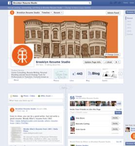 Personal Social Media Portfolio - Facebook Company Profile Content - Brooklyn Resume Studio - Career Coaching, Resume Writing, LinkedIn Profile Development, Social Media and Job Search Strategy Tools