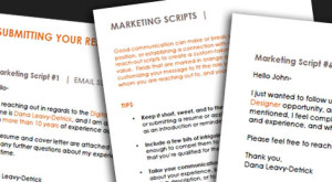 Email Marketing Scripts - Brooklyn Resume Studio - Career Coaching, Resume Writing, LinkedIn Profile Development, Personal Brand Building & Job Search Strategy Tools