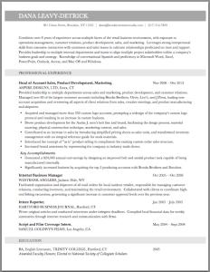 Brooklyn Resume Studio - New York Resume Writer - Resume Sample