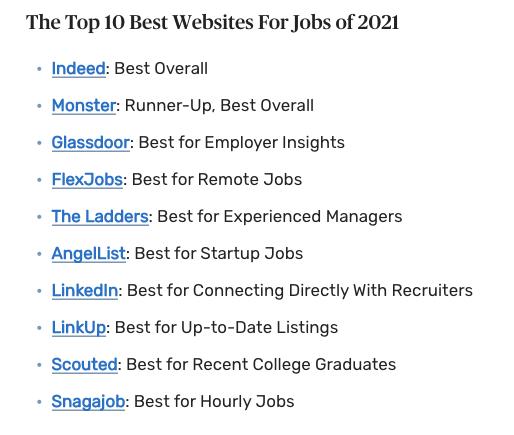 top 10 best websites for jobs in 2021