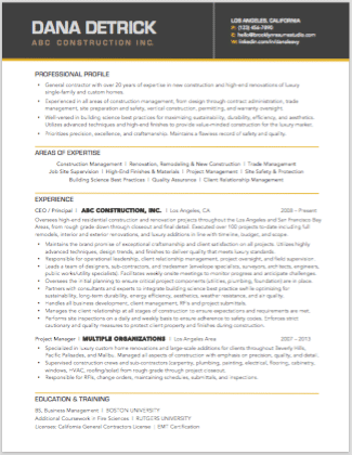 Resume Examples And Samples Brooklyn Resume Studio