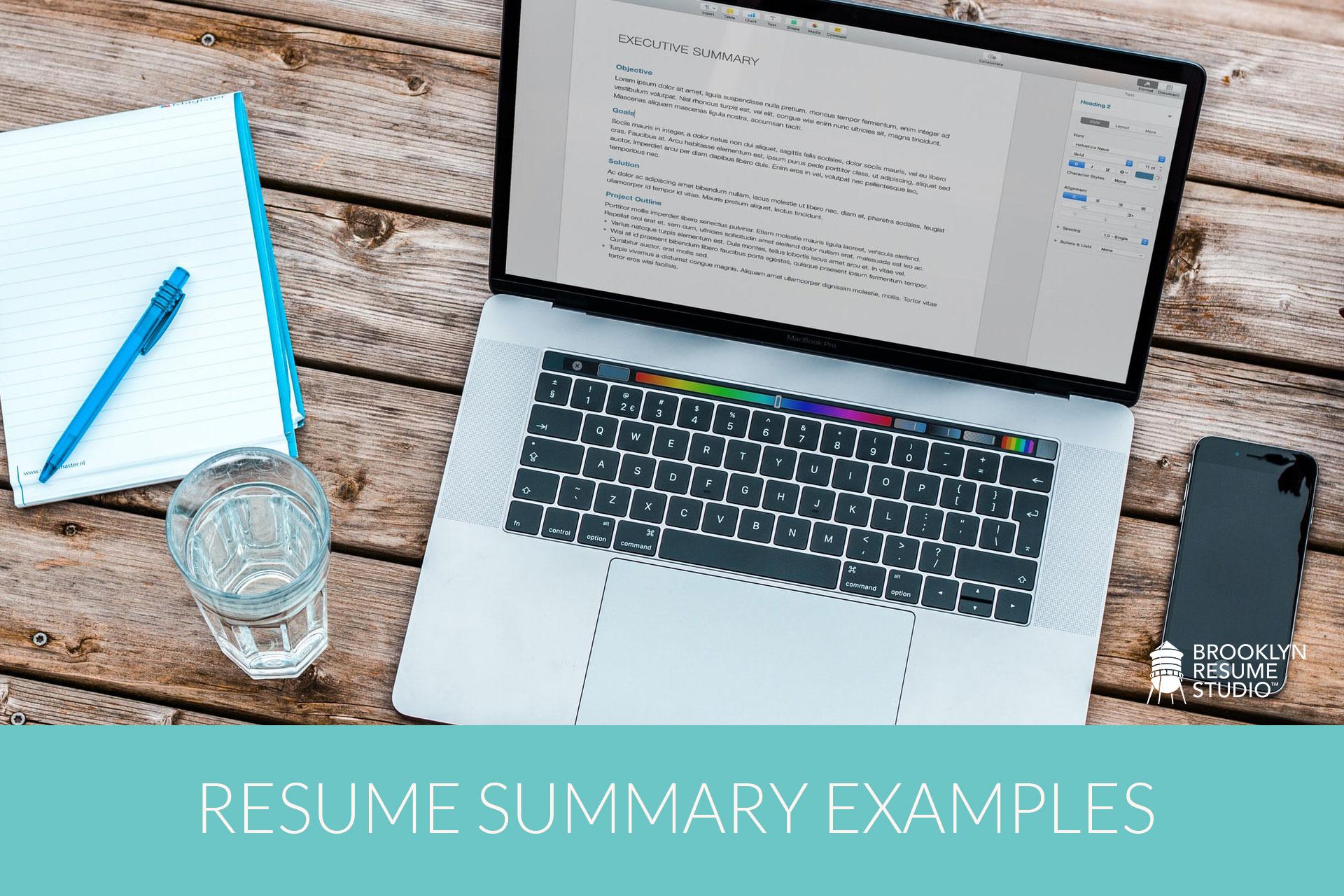 How To Write A Resume Summary Statement Brooklyn Resume Studio