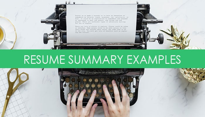 How To Write A Resume Summary Statement With 4 Brilliant Examples