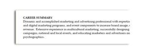 Career Summary Statement 3   Brooklyn Resume Studio