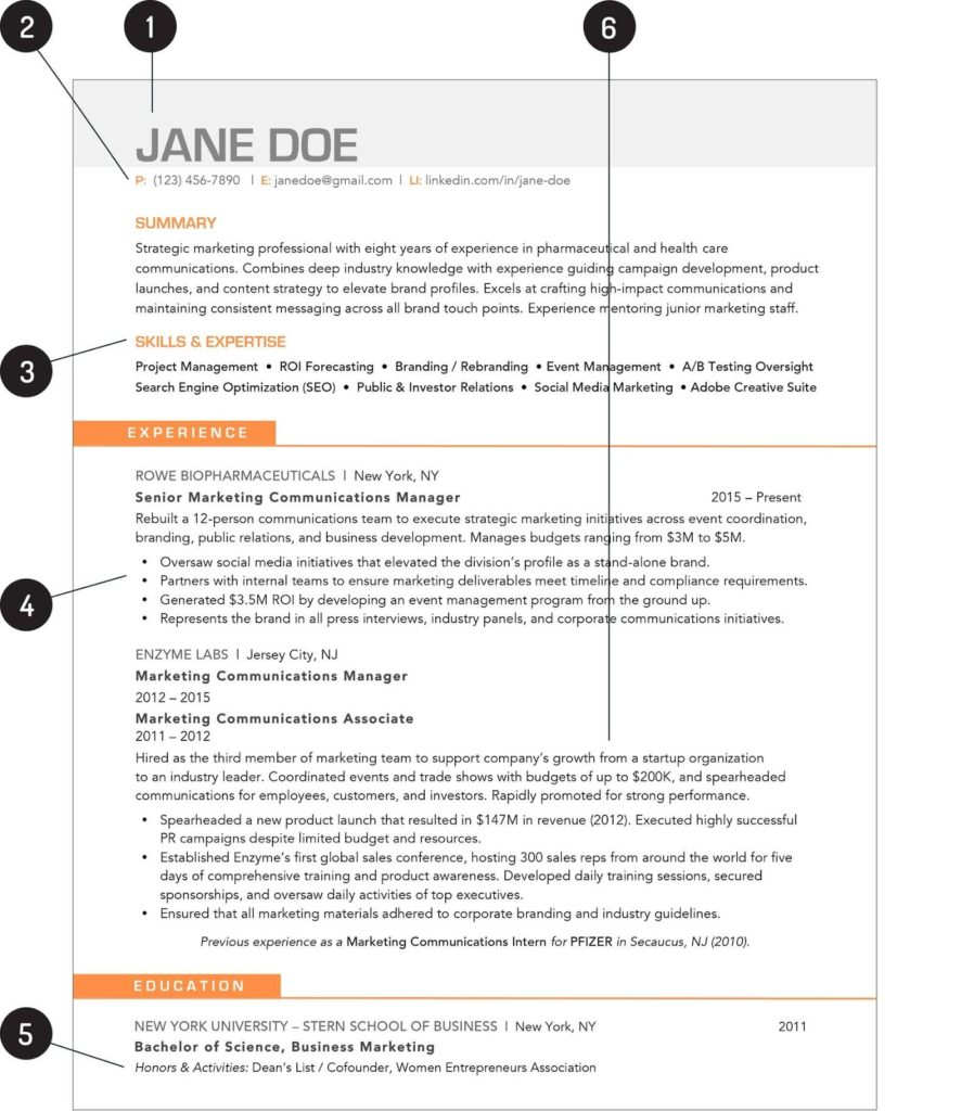 downloadable resume example